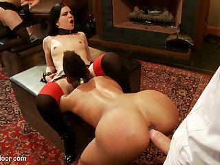 Juliette March  Nikki Darling  Bella Rossi in Cat Fighting Slut Brunch - TheUpperFloor