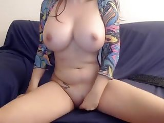Teen big tits play with her toys on webcam